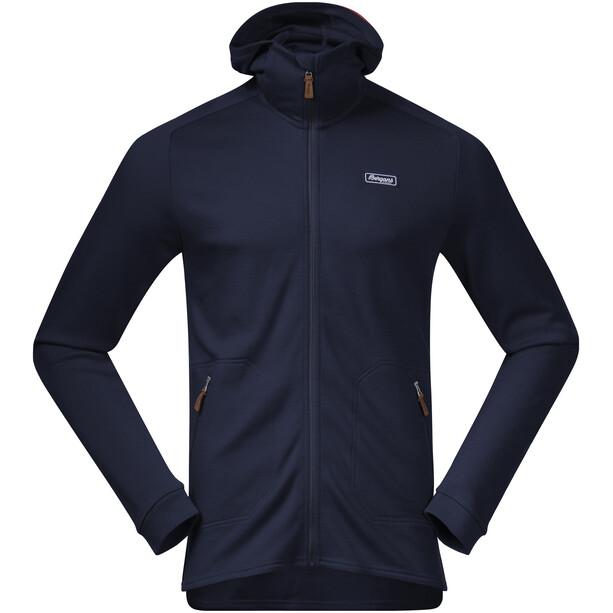 Bergans Tuva LT Hooded Wool Jacket Men navy