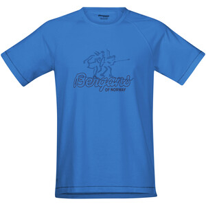 Bergans Tee Herren athens blue/navy athens blue/navy