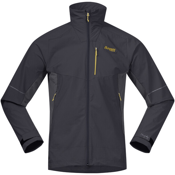 Bergans Slingsby LT Softshell Jacke Herren solid charcoal/waxed yellow