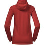 Bergans Tuva LT Wool Kapuzenjacke Damen red sand