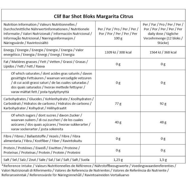 CLIF Bar Shot Bloks Box 18 x 60g Margarita