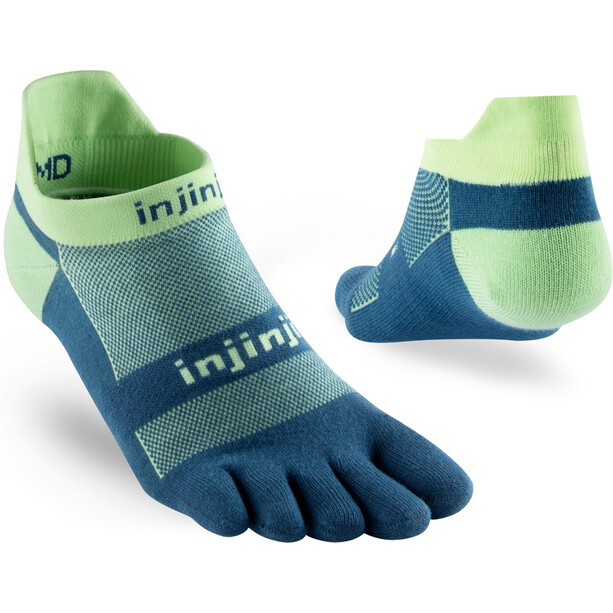 Injinji Run Original Weight No-Show Socks seafoam