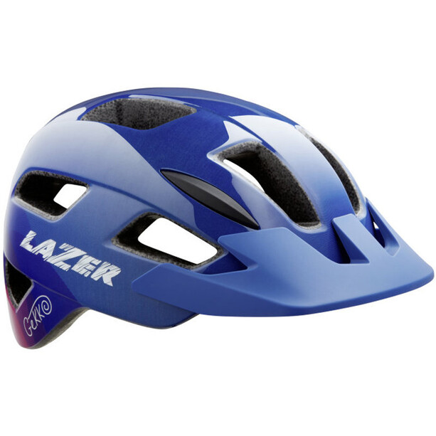 Lazer Gekko Helm mit Insektenschutznetz Kinder blue pink