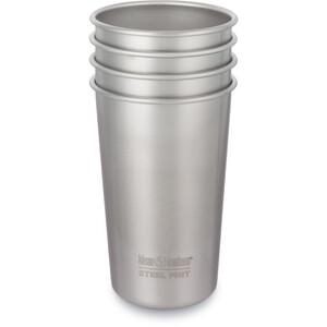 Klean Kanteen Steel Pint Cup 4-Pack 473ml brushed stainless brushed stainless