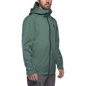 Black Diamond Stormline Chaqueta Stretch Rain Shell Hombre, verde verde