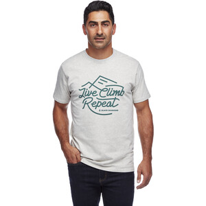 Black Diamond Live Climb Repeat Tee Men birch heather birch heather