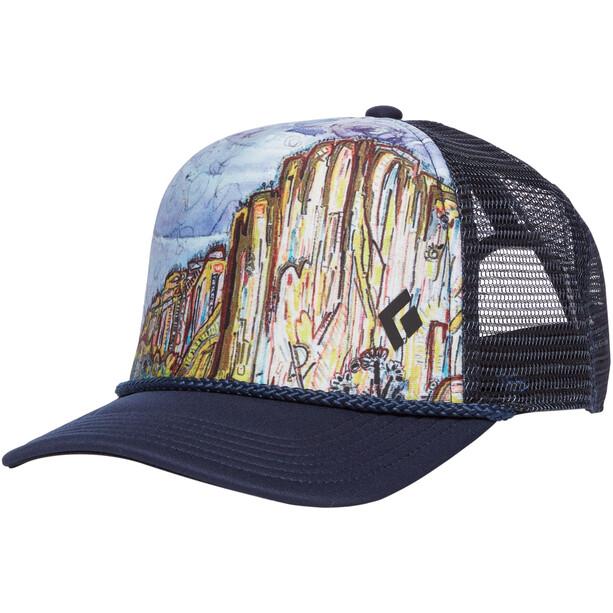 Black Diamond Flat Bill Trucker Hat el cap