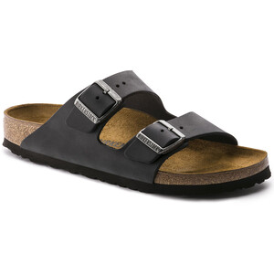Birkenstock Arizona Sandals Oiled Leather Regular Svart Svart