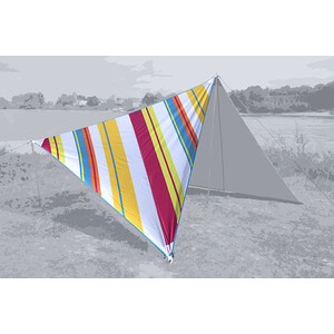 Bent Canvas Allover Set Karibik stripe hawaii/zipper light blue stripe hawaii/zipper light blue