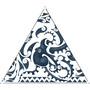 Bent Canvas Allover Set Neuseeland blau/weiß