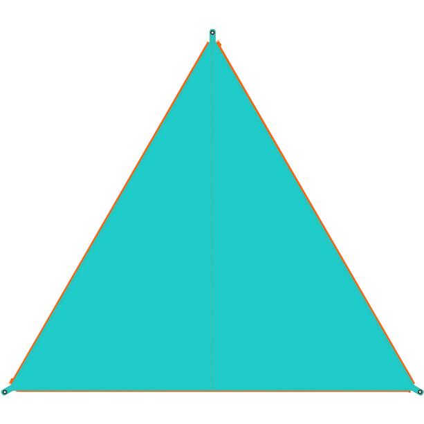 Bent Canvas Plain Bâche de toit Simple, turquoise