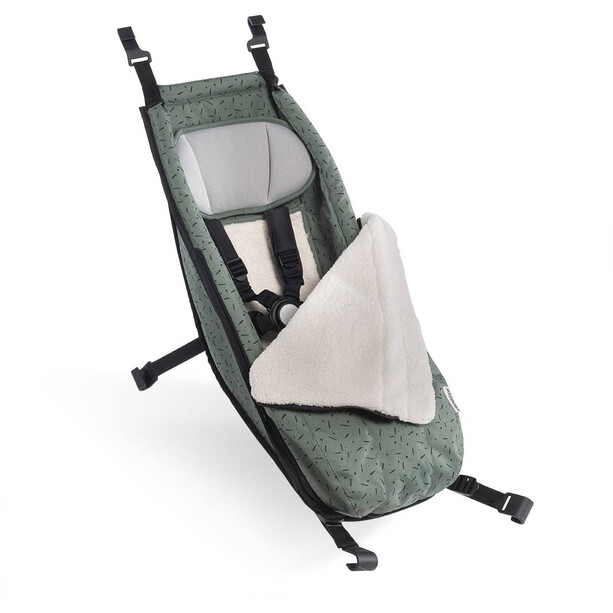 Croozer Babysitz inkl. Winter-Set für Kid ab 2014 jungle green/black