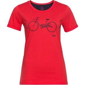 Triple2 Tuur Organic Cotton Kurzarm Trikot Damen hibiscus/bike hibiscus/bike