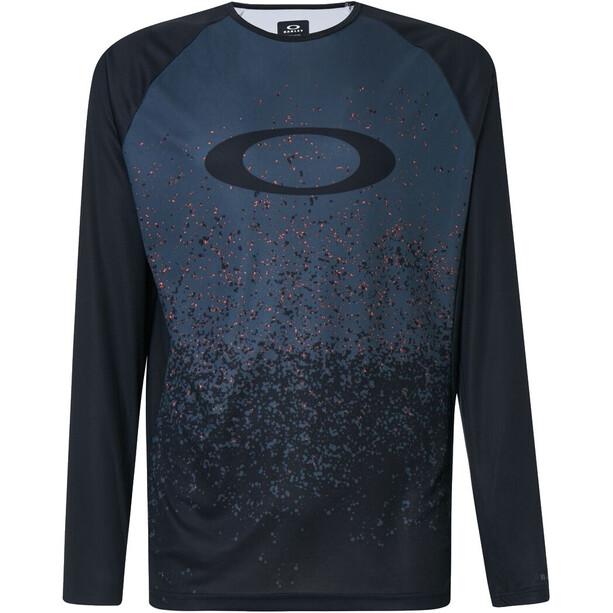Oakley MTB Langarm Tech T-Shirt Herren grey pixel print