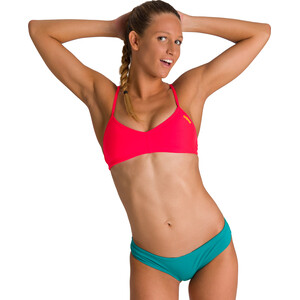 arena Bandeau Live Top Damen fluo red/yellow star fluo red/yellow star