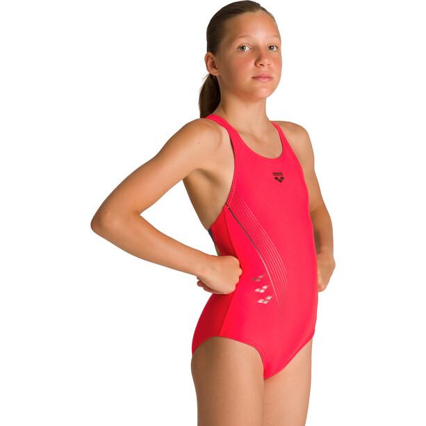 arena Chameleon V Back Yksiosainen Uimapuku Tytöt, vaaleanpunainen