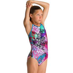 arena Crazy Light Drop One Piece Badeanzug Mädchen turquoise/multi turquoise/multi