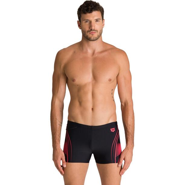 arena Fairness Shorts Men, black /fluo red