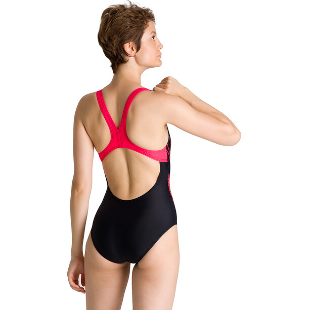 arena Fairness Swim Pro Back One Piece Badeanzug Damen black/fluo red