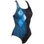 arena Mirrors Swim Pro Back Maillot de bain une pièce Femme, noir/bleu