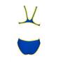 arena One Biglogo One Piece Badeanzug Damen neon blue/yellow star