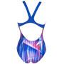 arena Shading Prism Swim Pro Back One Piece Badeanzug Damen neon blue/multi