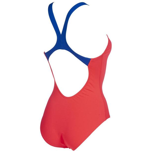 arena Solid Swim Pro One Piece Badeanzug Damen fluo red/neon blue