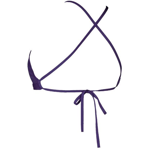 arena Solid Tie Back T-shirt zippé Femme, bleu
