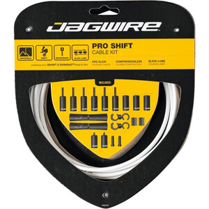 Jagwire 2X Pro Shift Shift Cable Set ホワイト
