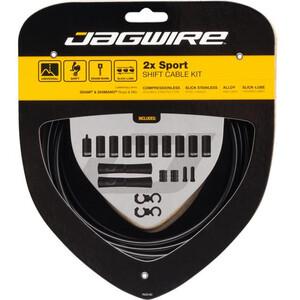 Jagwire 2X Sport Shift Set de câble de dérailleur pour Shimano/SRAM, noir noir