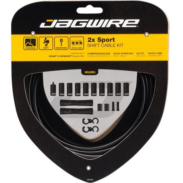Jagwire 2X Sport Shift Gearkabelsæt Til Shimano/SRAM, sort