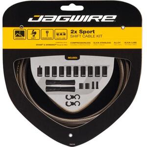 Jagwire 2X Sport Shift Shift Cable Set (Shimano/SRAM用) カーボン シルバー