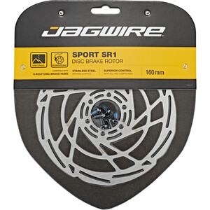 Jagwire Sport SR1 Bremseskive 6-bolt, sølv sølv