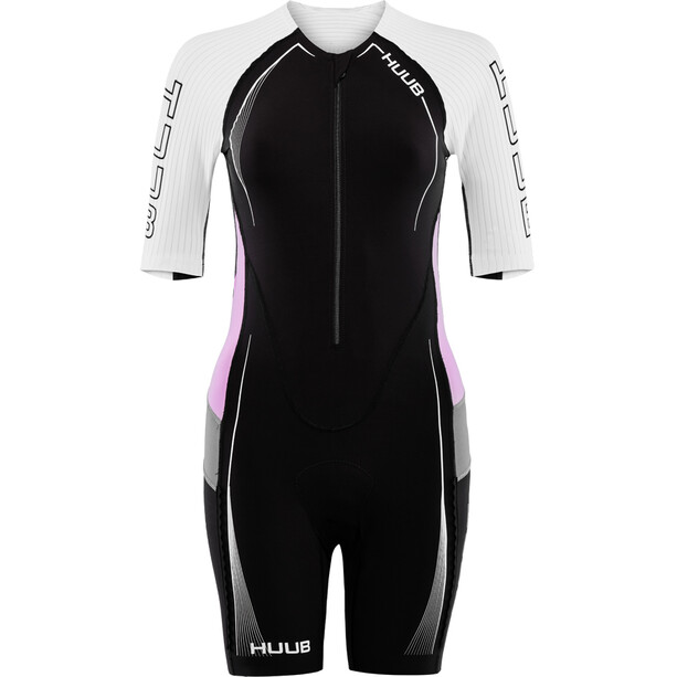 HUUB Anemoi Aero Trisuit Damen black/white/pink