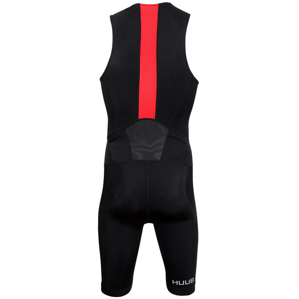 HUUB Essential Combinaison de triathlon Homme, black/red