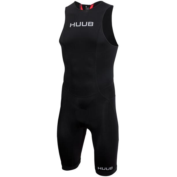 HUUB Essential Combinaison de triathlon Zip arrière Homme, noir