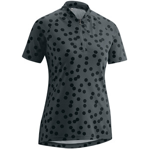 Gonso Lilo Half-Zip Kurzarm Radshirt Damen graphite/black allover graphite/black allover