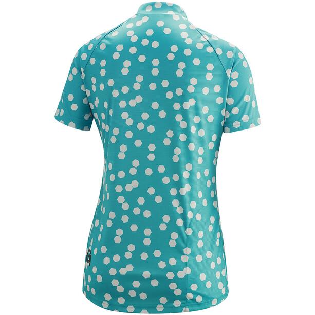 Gonso Lilo Half-Zip Kurzarm Radshirt Damen latigo bay/pearl blue allover