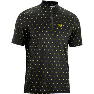 Gonso Peio Half-Zip Kurzarm Radshirt Herren black/yellow allover black/yellow allover