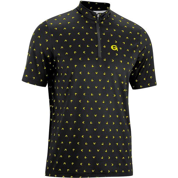 Gonso Peio Half-Zip Kurzarm Radshirt Herren black/yellow allover