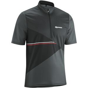 Gonso Ripo T-shirt de cyclisme avec zip pectoral Homme, gris gris
