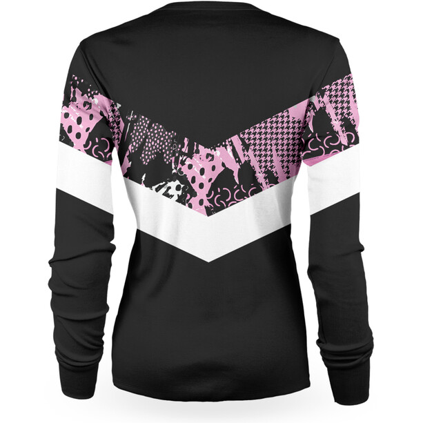 Loose Riders Gnarly Maillot manches longues Femme, noir/rose
