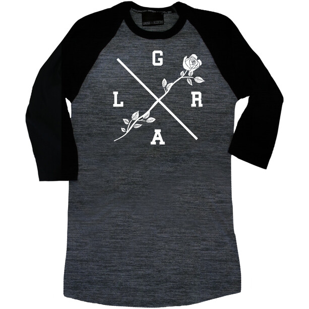 Loose Riders Rose T-shirt manches 3/4 Femme, noir/gris