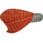 Big Agnes Pluton UL 40 Sleeping Bag Long gray/pumpkin