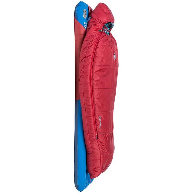 Big Agnes Duster 15 Sleeping Bag Youth, punainen