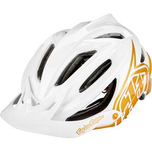 Troy Lee Designs A2 MIPS Helm weiß/gold weiß/gold