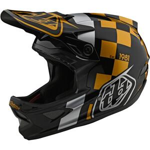 Troy Lee Designs D3 Fiberlite Helm raceshop black/gold raceshop black/gold