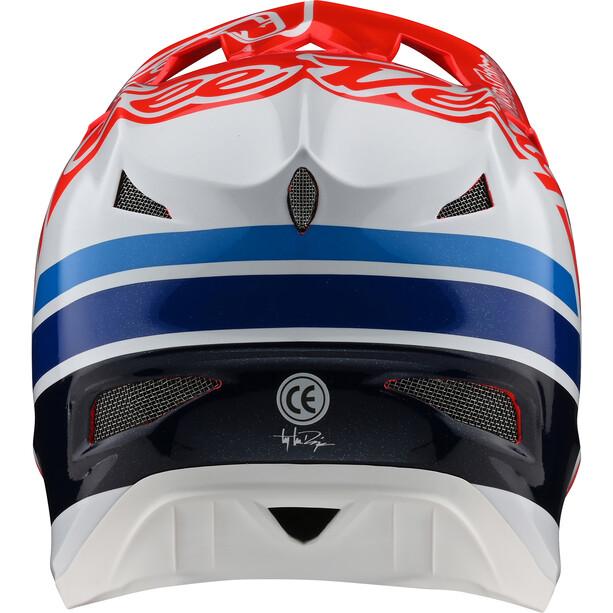 Troy Lee Designs D3 Fiberlite Helm silhouette red/white