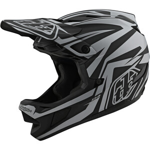 Troy Lee Designs D4 Composite MIPS Mirage ヘルメット ブラック/シルバー