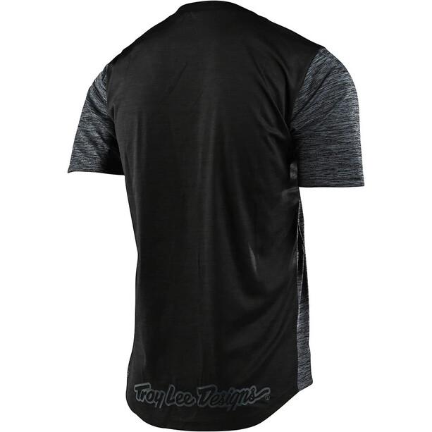 Troy Lee Designs Flowline Kurzarm Trikot shield heather black/black